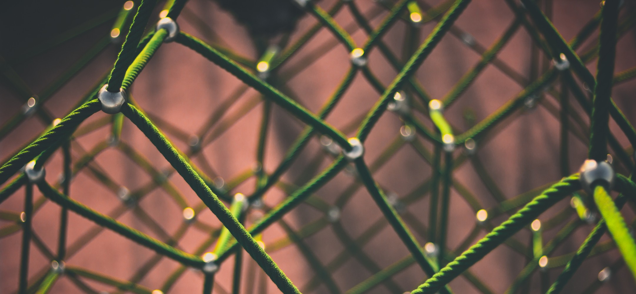 neon green wire metal ball jointed net mesh