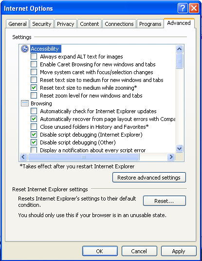 3_ALM Internet Explorer fix Security settings