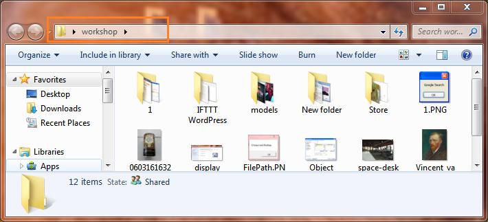 VbScript SpecialFolder open folder