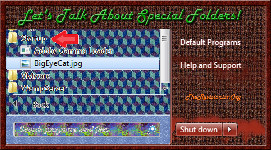 Let's Talk About Special Folders! VbScript
