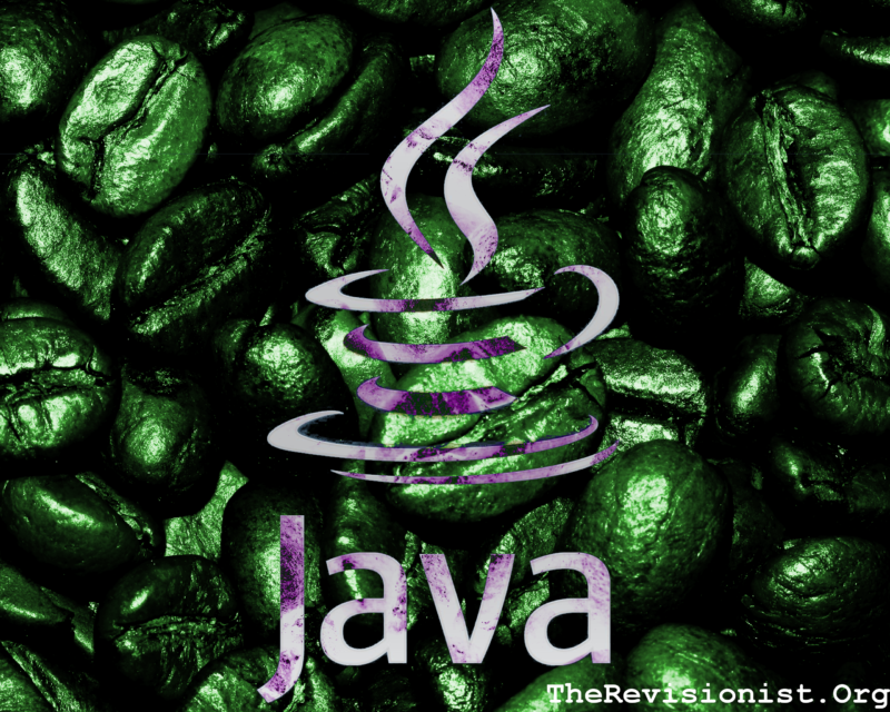 brighter green coffee background image, java coding symbol foreground