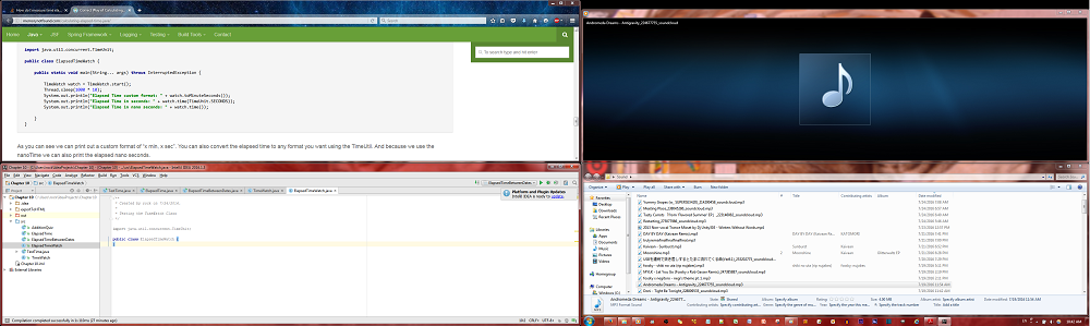 4 windows, 2 monitors