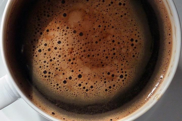 coffee crema in a cup brown mocha color