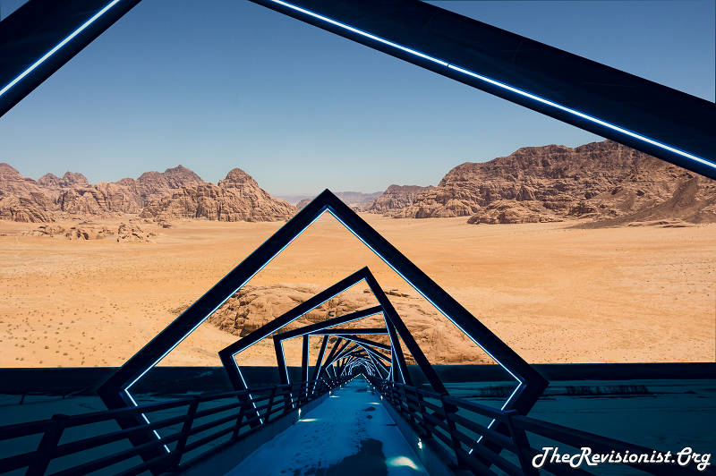 clear sunny desert yellow sand with celestial snow bridge