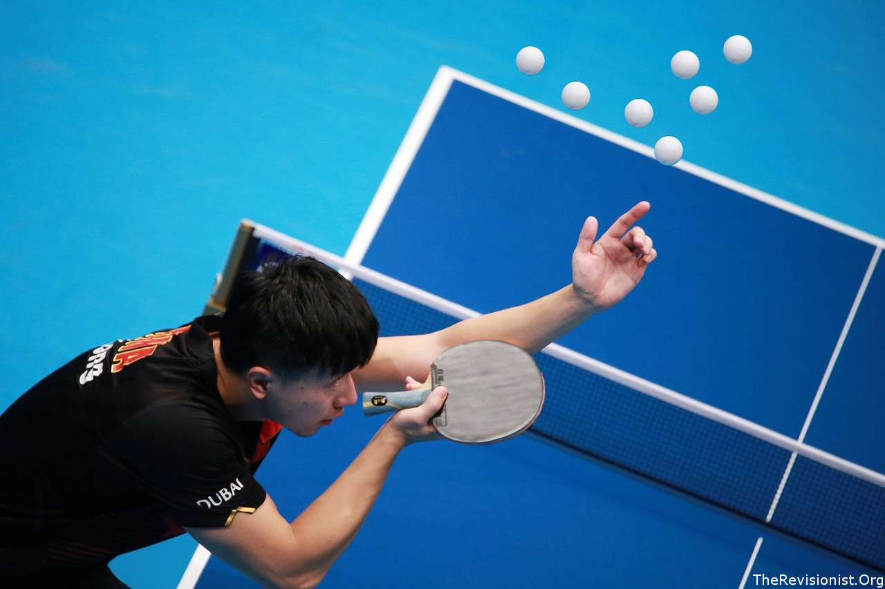 A barage of balls upon the fine Table Tennis Paddle Wacker
