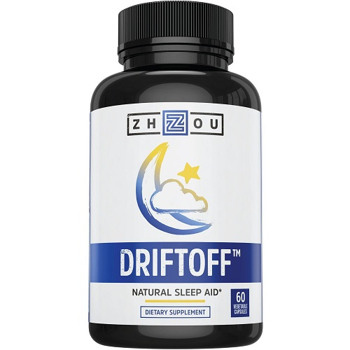 Zhou dietary supplement driftoff natural sleep aid