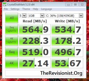 PNY CS1311 SSD speed test crystalDiskMark