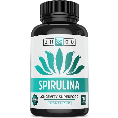 Zhou dietary supplement spirulina longevity superfood
