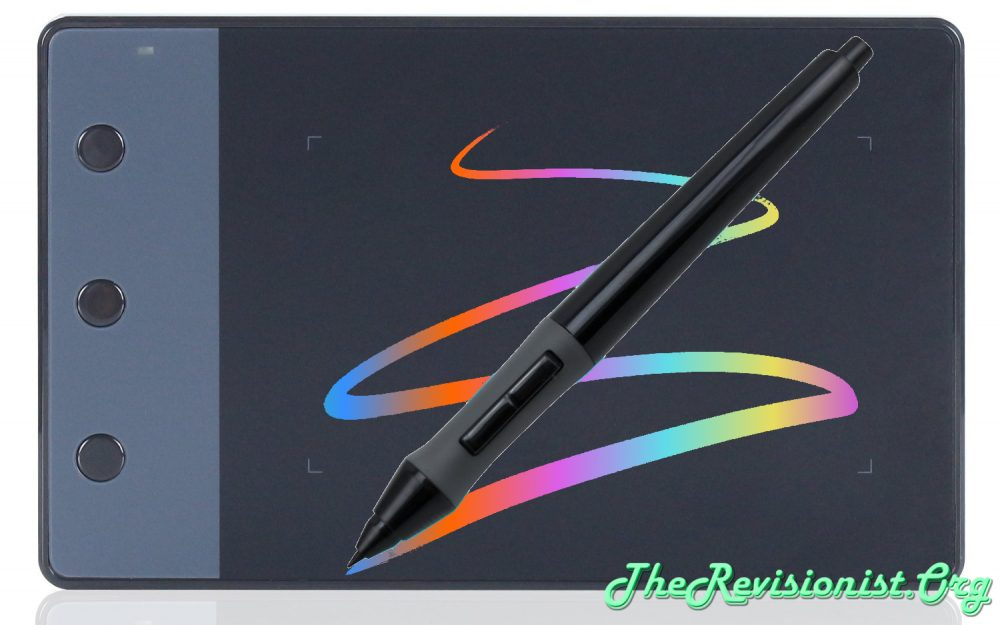 H420 pen tablet with pressure sensitive pen color rainbow streak