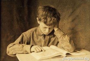 study focus reading a book student vintage photo