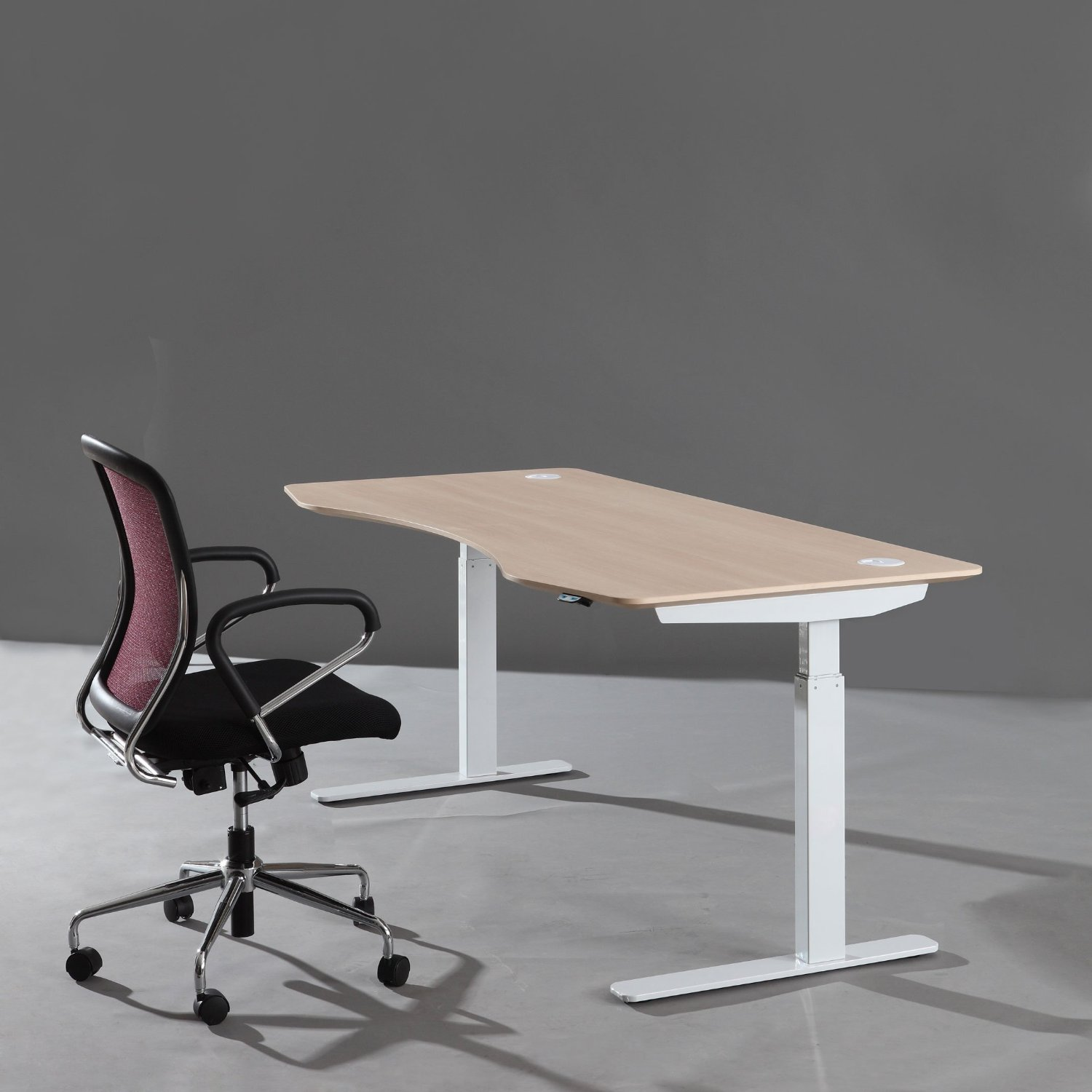 Standing sitting adjustable desk the revisionist for Chairs for standing desks