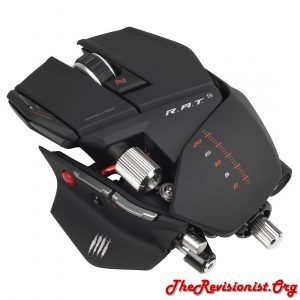 Mad Catz R.A.T.9 gaming mouse black suede chrome metal cyborg mouse build your own mouse