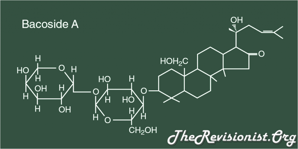 chemical molecular model of Bacopa active constituent: Bacoside A