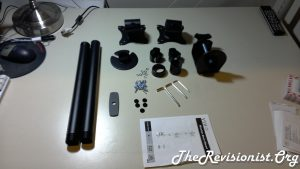 all the parts of V002R VIVO layed out on desk