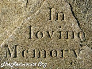 """engraved words, """"In loving Memory"""""""